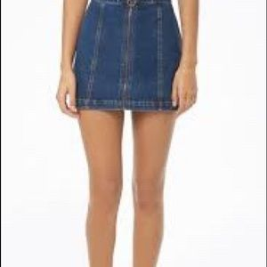 NWT Forever21 Mini Blue Denim Skirt. Size 27
